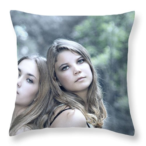 Girl Throw Pillow featuring the photograph Create Your Destiny by Evelina Kremsdorf