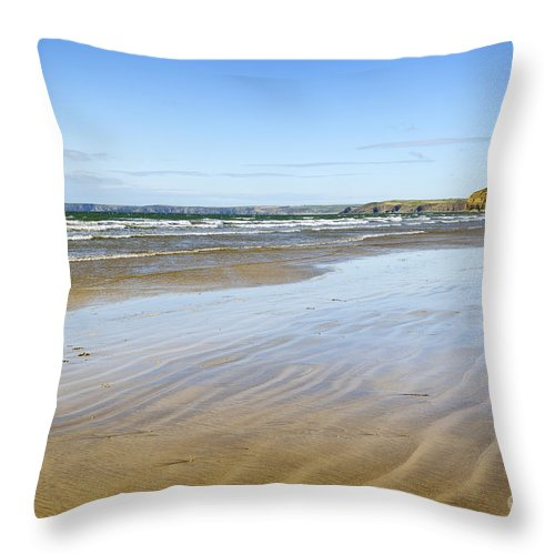 Doug Throw Pillow featuring the photograph Creating Ripples by Wendy Wilton