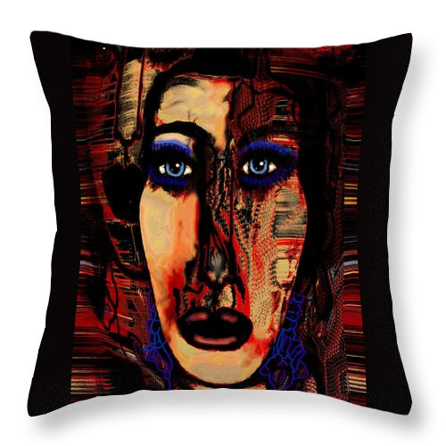 Face Throw Pillow featuring the mixed media Creative Artist by Natalie Holland