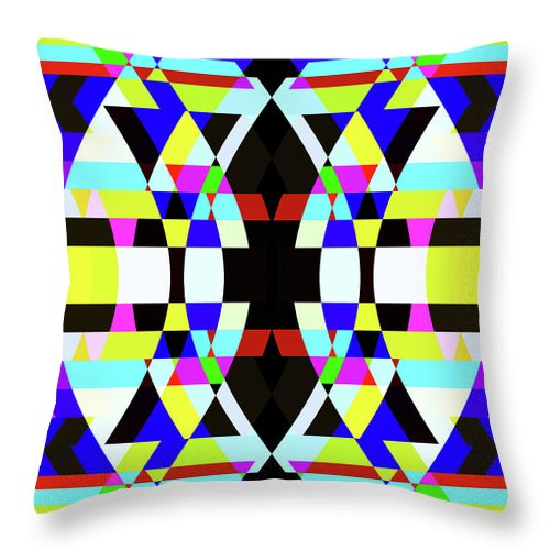 Rectangle Throw Pillow featuring the digital art Creative Shapes Abstract Design by Raj Kamal