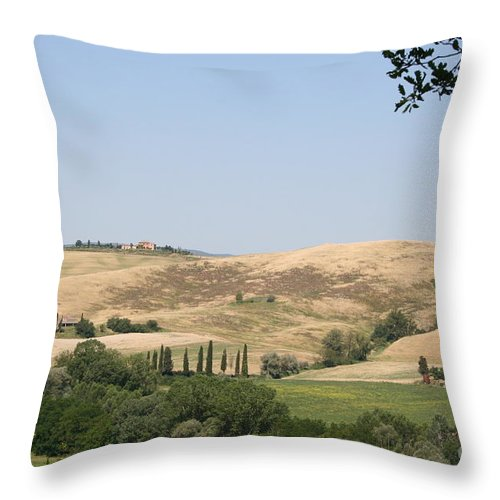 Landscape Throw Pillow featuring the photograph Crete Senesi by Christiane Schulze Art And Photography
