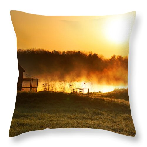 Sunrise Throw Pillow featuring the photograph Crisp Spring Morning by Rob Blair
