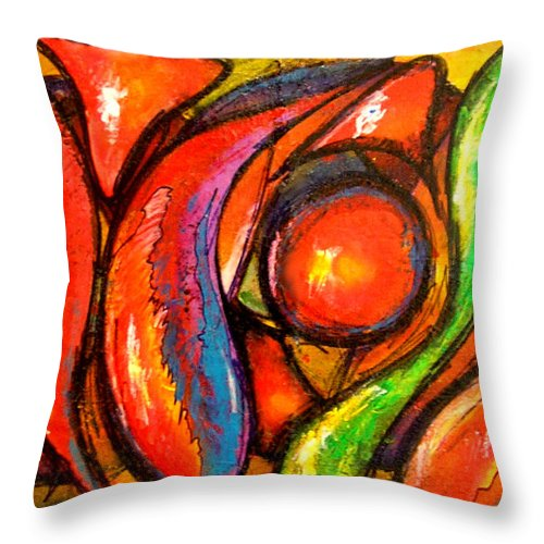 Textured Throw Pillow featuring the painting Cromo by Marcello Cicchini