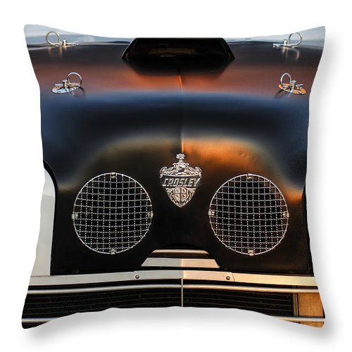 Crosley Grille Throw Pillow featuring the photograph Crosley Front End by Jill Reger