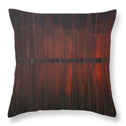 Fantasy Throw Pillow featuring the painting Cross the Line by Sergey Bezhinets