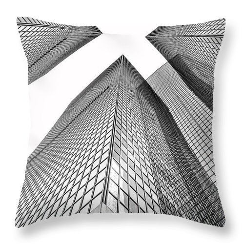 Los Throw Pillow featuring the photograph Crossed by Az Jackson