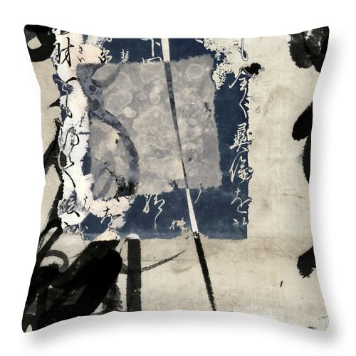 Indigo Throw Pillow featuring the photograph Crossing Indigo by Carol Leigh