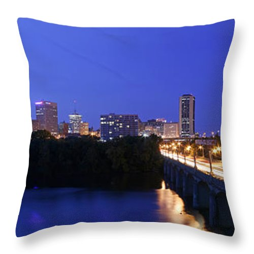 Mayo Bridge Throw Pillow featuring the photograph Crossing Mayo by Tim Wilson