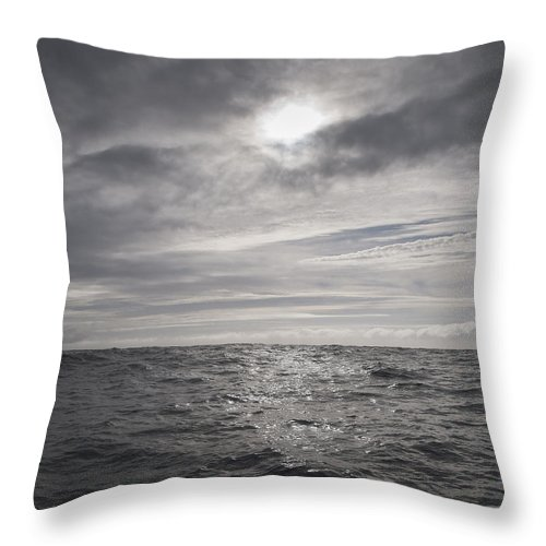 Celtic Sea Throw Pillow featuring the photograph Crossing The Celtic Sea by Gary Eason