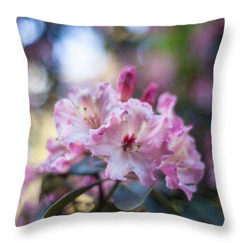 Flower Throw Pillow featuring the photograph Crown Of Rhodies by Mike Reid