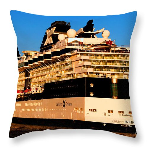 Cruise Ship Throw Pillow featuring the photograph Cruise by Tap On Photo