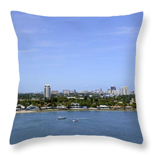Ft Lauderdale Throw Pillow featuring the photograph Cruising Fort Lauderdale by Don and Bonnie Fink