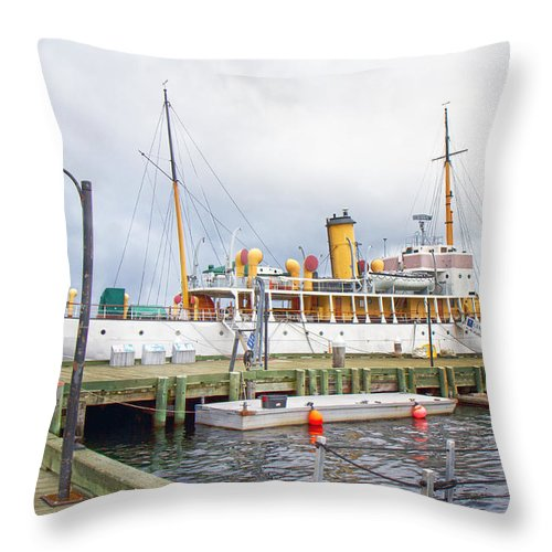 Halifax Throw Pillow featuring the photograph Css Acadia by Betsy Knapp