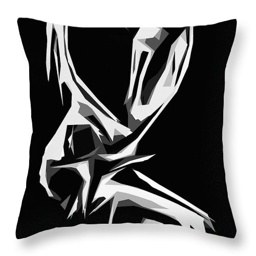 Love Lover Lovers Loving Cubism Minimalism Couple Man Woman Girl Female Male Throw Pillow featuring the painting Cubism Love by Steve K