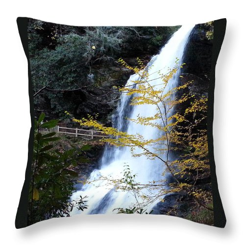 Nature Throw Pillow featuring the photograph Cullasaja's Dry Falls by Brenda Stevens Fanning
