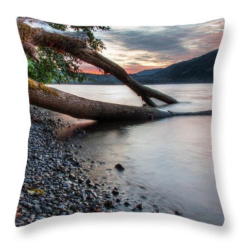 Beautiful Throw Pillow featuring the photograph Cultus Lake Sunset by James Wheeler