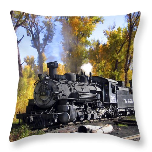 Train Throw Pillow featuring the photograph Cumbres And Toltec Railroad by Kurt Van Wagner