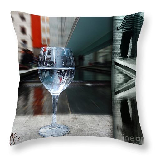 Cup Throw Pillow featuring the digital art Cup Of Life by Rosa Cobos
