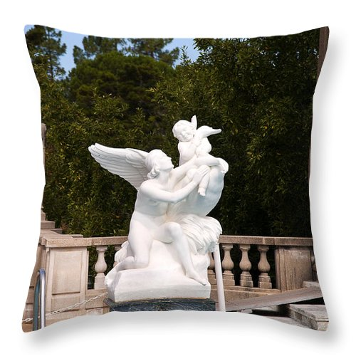 Big Sur Throw Pillow featuring the photograph Love Means Letting Go Of Childhood by Brenda Kean