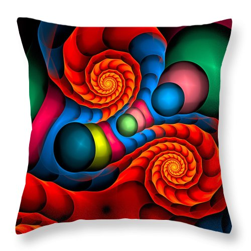 Curve Throw Pillow featuring the digital art Curbisme-103 by RochVanh