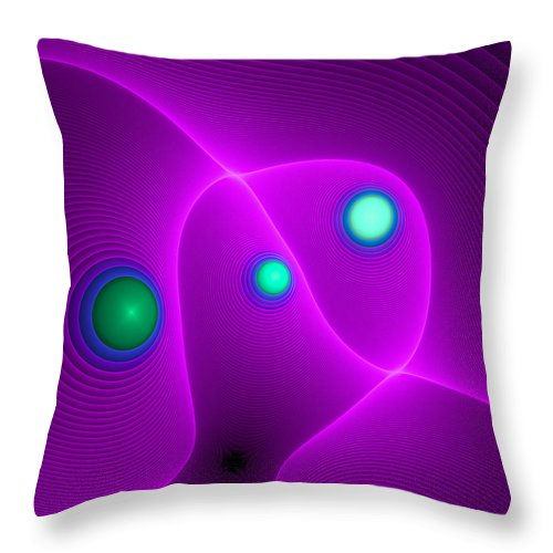 Curve Throw Pillow featuring the digital art Curbisme-111 by RochVanh