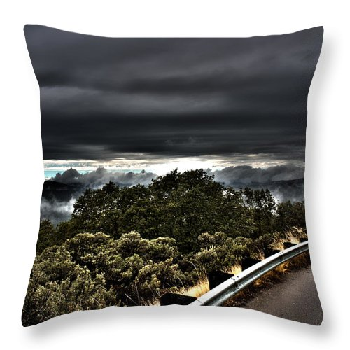 Heaven Throw Pillow featuring the photograph Curve On The Road To Heaven by Nathan Anglin
