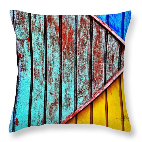Cut Up Throw Pillow featuring the photograph Cut Up by Skip Hunt