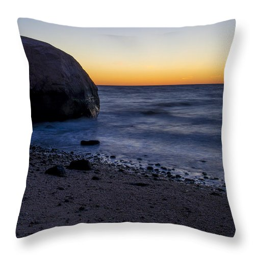 Long Island Throw Pillow featuring the photograph Cutchouge Ny Sunset by Tom Wilder