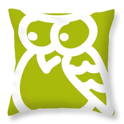 Owl Throw Pillow featuring the digital art Cute Owl Nursery Print by Nursery Art