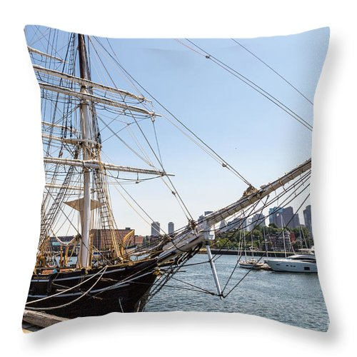 Boston Throw Pillow featuring the photograph Cwm At The Boston Navy Yard by Beverly Tabet