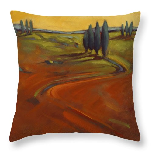 Cypress Throw Pillow featuring the painting Cypress Hills 3 by Konnie Kim