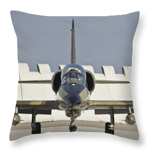 Czech Republic Throw Pillow featuring the photograph Czech Air Force L-39za Albatros by Timm Ziegenthaler
