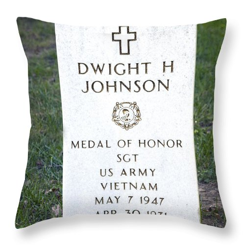 Medal Of Honor Throw Pillow featuring the photograph D. H. Johnson - Medal Of Honor by Paul W Faust - Impressions of Light