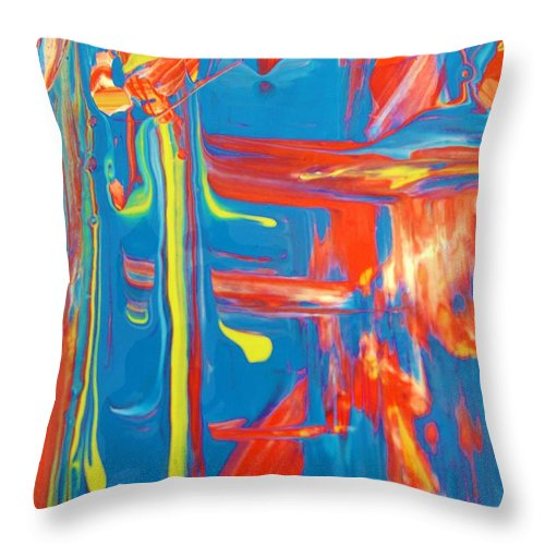 Original Throw Pillow featuring the painting D In Harmony by Artist Ai