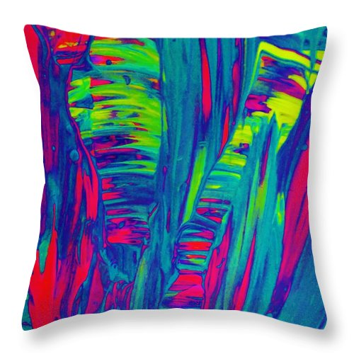 Original Throw Pillow featuring the painting D Prime by Artist Ai