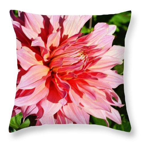 Halifax Public Garden Throw Pillow featuring the digital art Dahlia 7 by Eva Kaufman