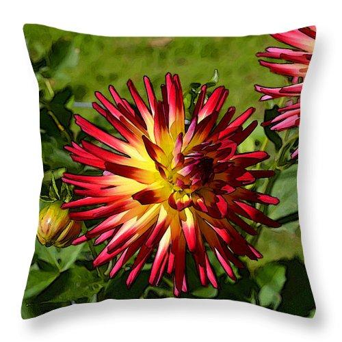 Halifax Public Garden Throw Pillow featuring the digital art Dahlia 8 by Eva Kaufman