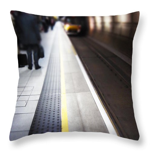 Subway Throw Pillow featuring the photograph Daily Commute by Margie Hurwich