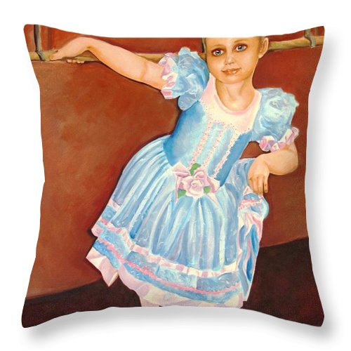 Diva Throw Pillow featuring the painting Dainty Diva by Carol Allen Anfinsen