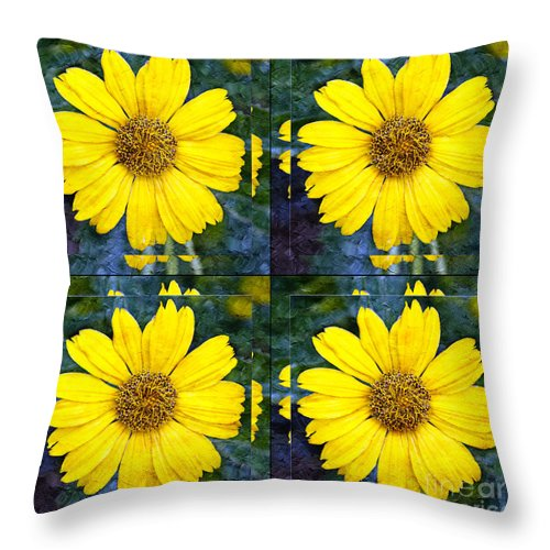 Daisy Throw Pillow featuring the photograph Daisy 8 by Andee Design