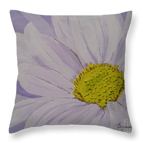Daisy Throw Pillow featuring the painting Daisy by Anthony Dunphy