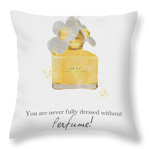 Daisy Throw Pillow featuring the mixed media Daisy by My Inspiration