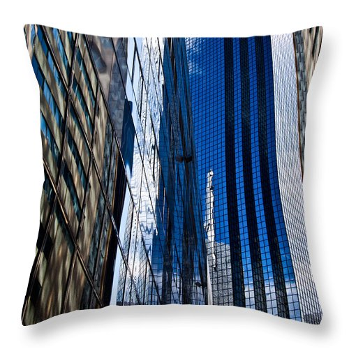 Architecture Throw Pillow featuring the photograph Dallas Reflections by Mark Alder