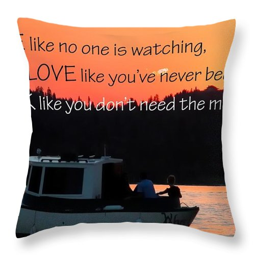 Think Throw Pillow featuring the photograph Dance Love Work 21037 by Jerry Sodorff