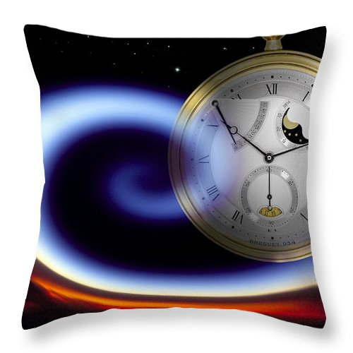 Time Throw Pillow featuring the photograph Dance Of The Hours by Luciano Comba