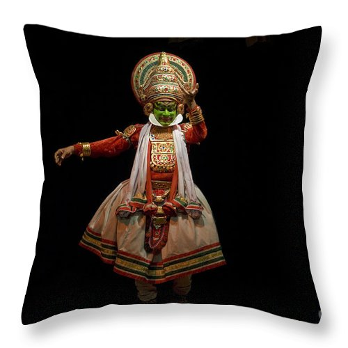 Asia Throw Pillow featuring the photograph Dancers, India by John Shaw
