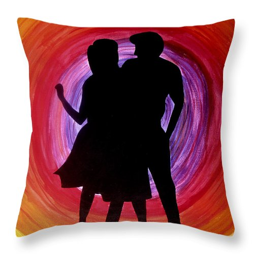 Dance Throw Pillow featuring the painting Dancing by Catia Silva