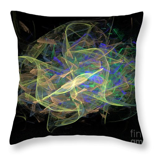 Dance Throw Pillow featuring the digital art Dancing Ribbons 24 by Dee Flouton