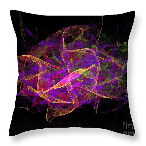 Dance Throw Pillow featuring the digital art Dancing Ribbons 26 by Dee Flouton