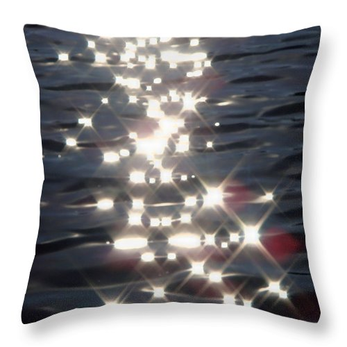 Water Throw Pillow featuring the photograph Dancing With The Stars by Donna Blackhall
